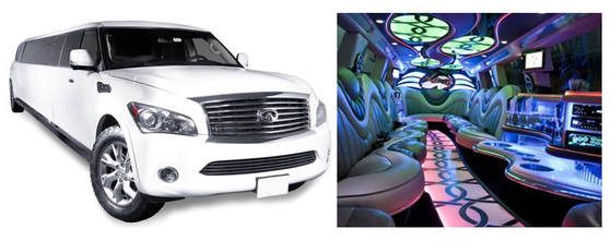 Infinity limo and inside look