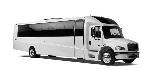Party bus Ford white 30 pax